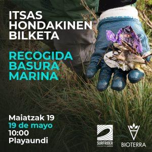 Recogida de basura marina: el domingo 19 de mayo dentro de las actividades de la feria Bioterra