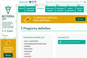 Ya está disponible en la web el programa de actividades de Bioterra