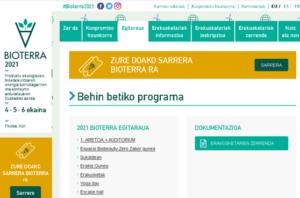 Bioterraren  jarduera  programa  eskuragarri  dago  webgunean
