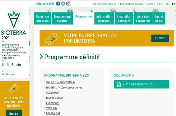 Le programme d'activités de Bioterra est maintenant disponible sur le site web